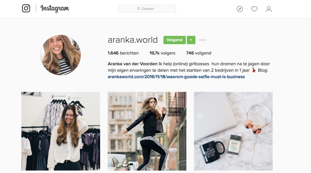 instagram about intro