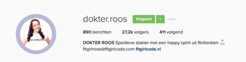 Instagram dokter.roos fitgirlroos